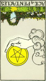 Ace of Pentacles Reversed